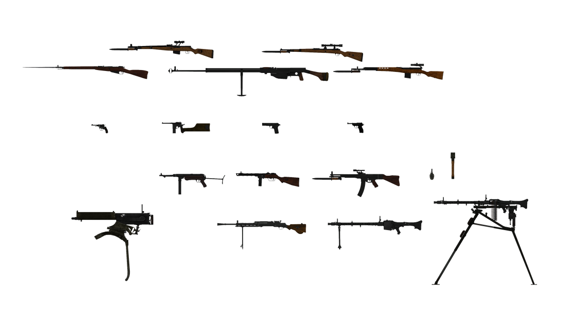 RO2 USSR and Third reich weapons by RaiR-211