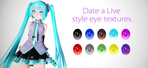 Date a Live eye texture replica download + PSD by RaiR-211