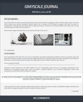 Grayscale ~ Free Journal Skin