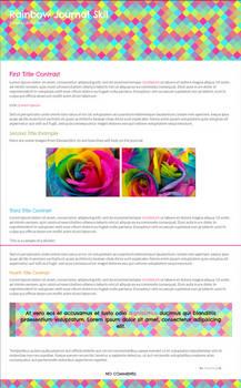 Rainbow ~ Free Journal Skin