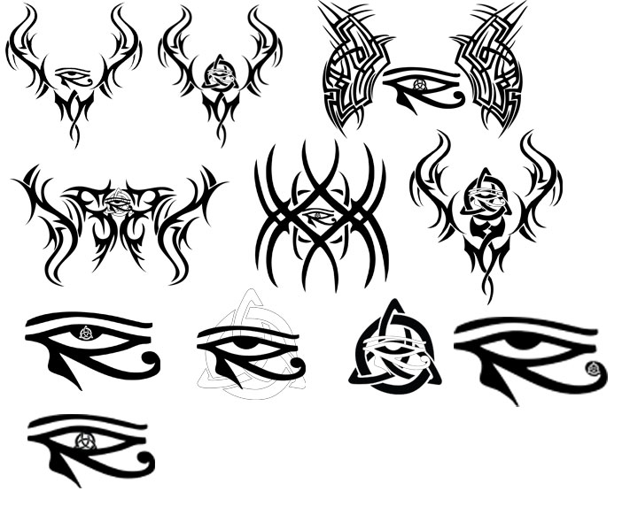 Tribal-Egyptian-Celtic tattoos by missnayuh on DeviantArt