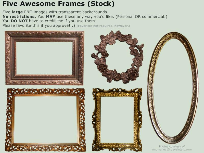 Black frame by darkrose42-stock on DeviantArt