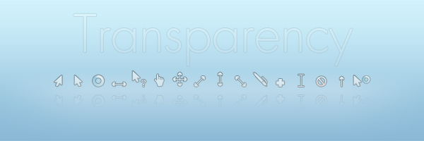 Transparency Cursors by gorganzola1