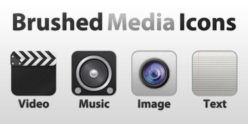 Brushed Media Icons by gorganzola1