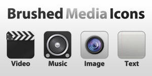 Brushed Media Icons