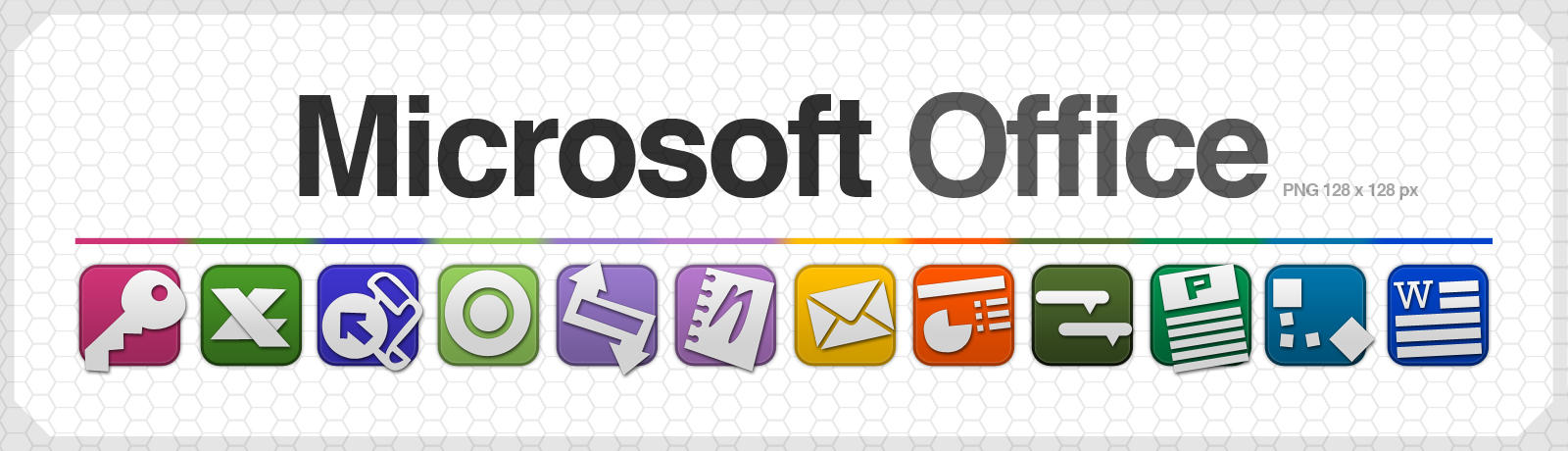 Ms office Icons  128X128px PNG