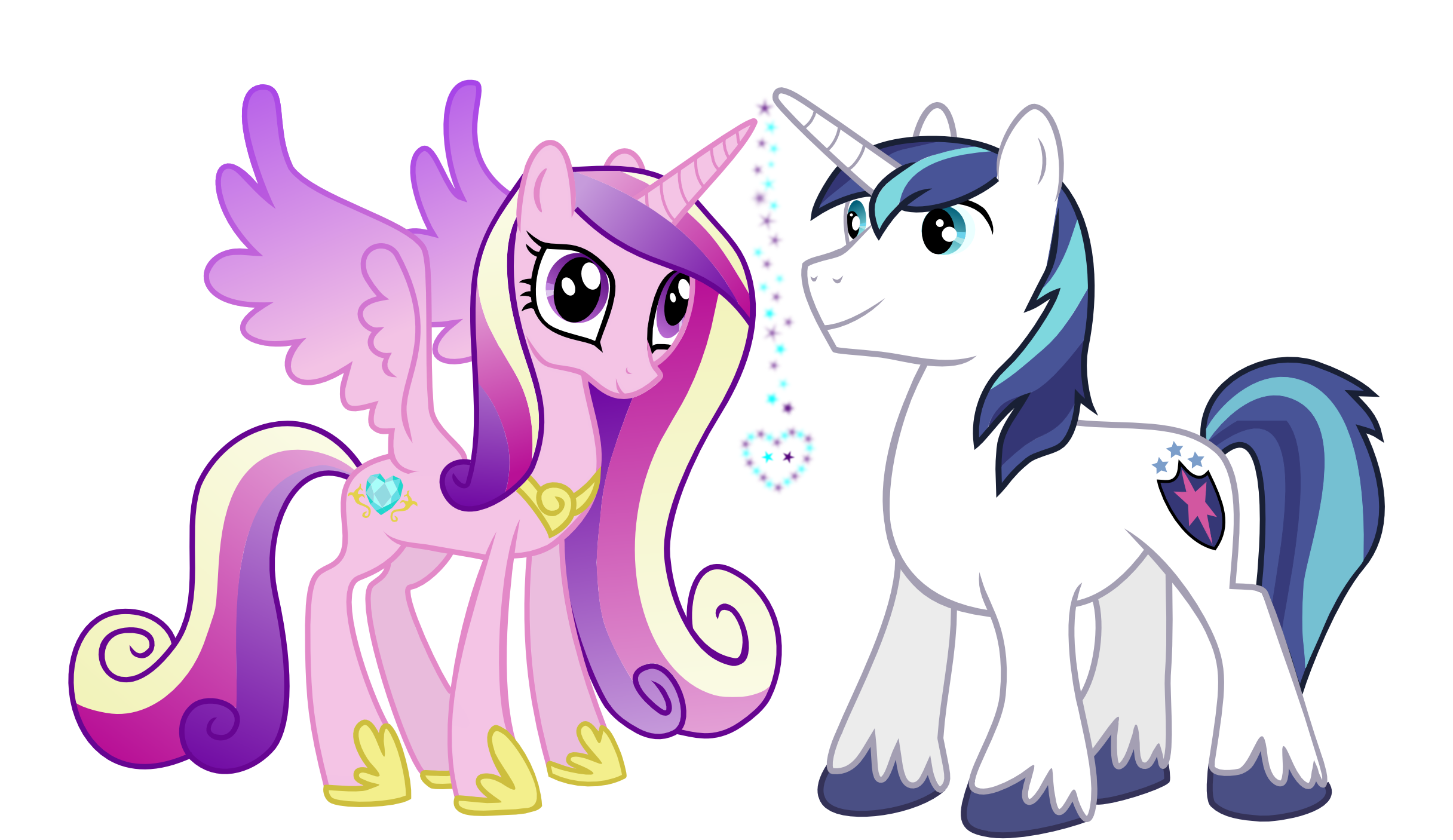 Cadance And Shining Armor By Serenawyr On Deviantart