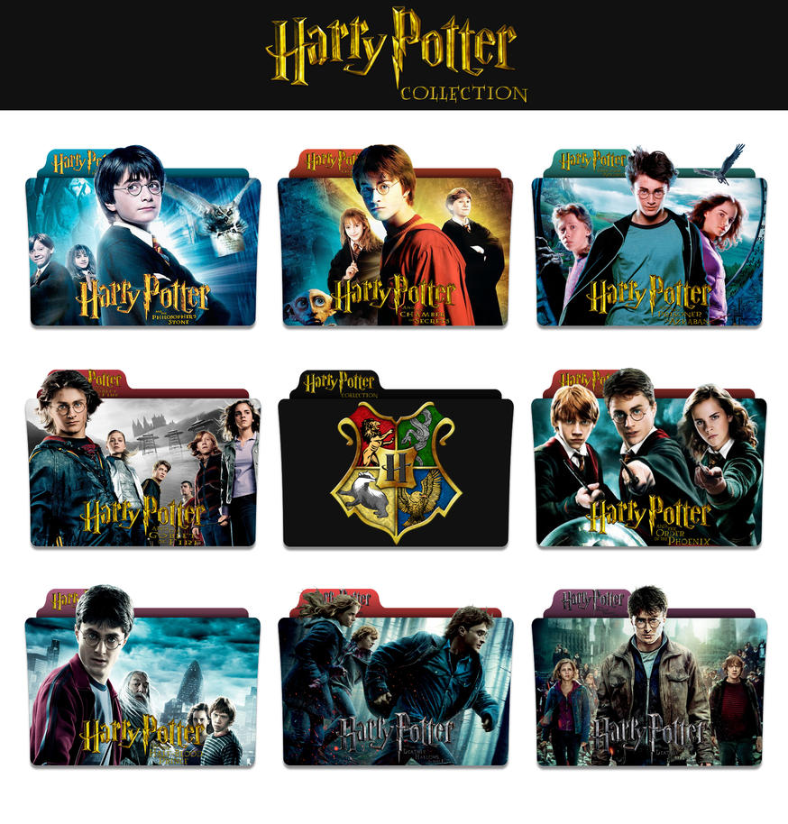 Harry potter complete collection folder icons by for Sejour complet harry potter