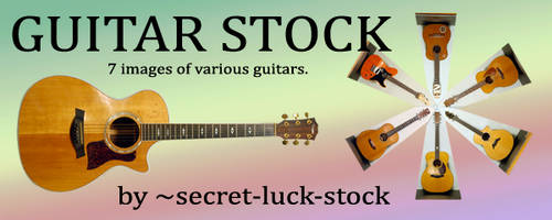 guitar stock package by secret-luck-stock