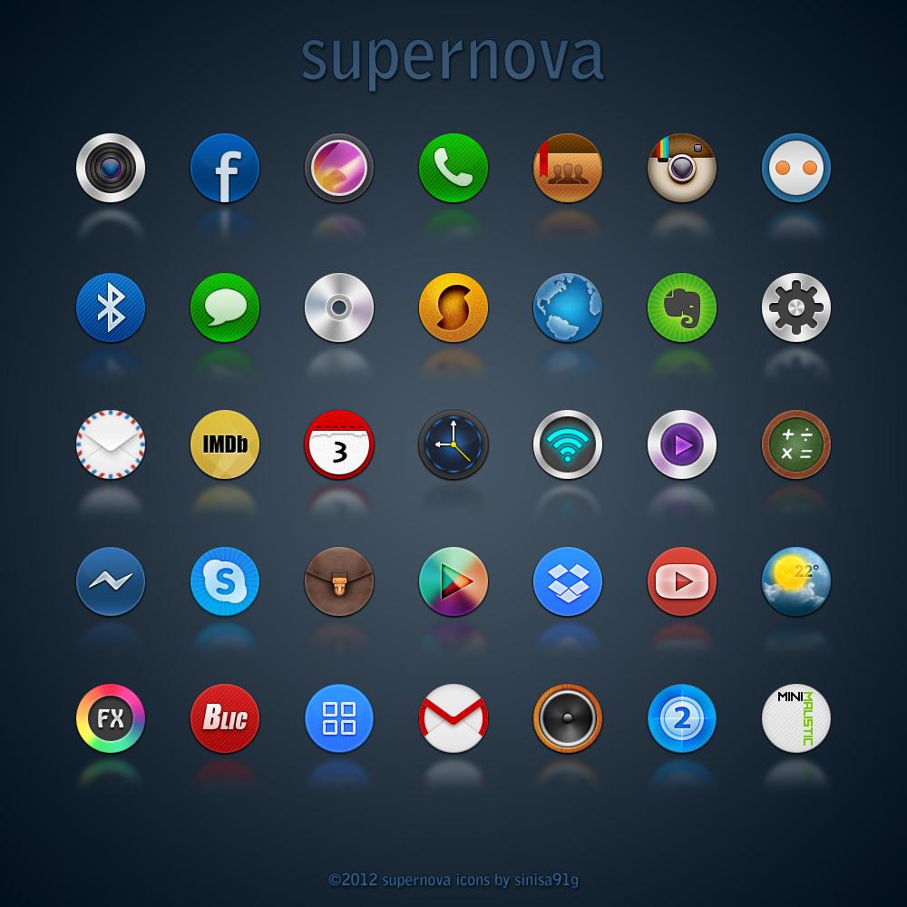 Supernova Icons by Sinisa91G