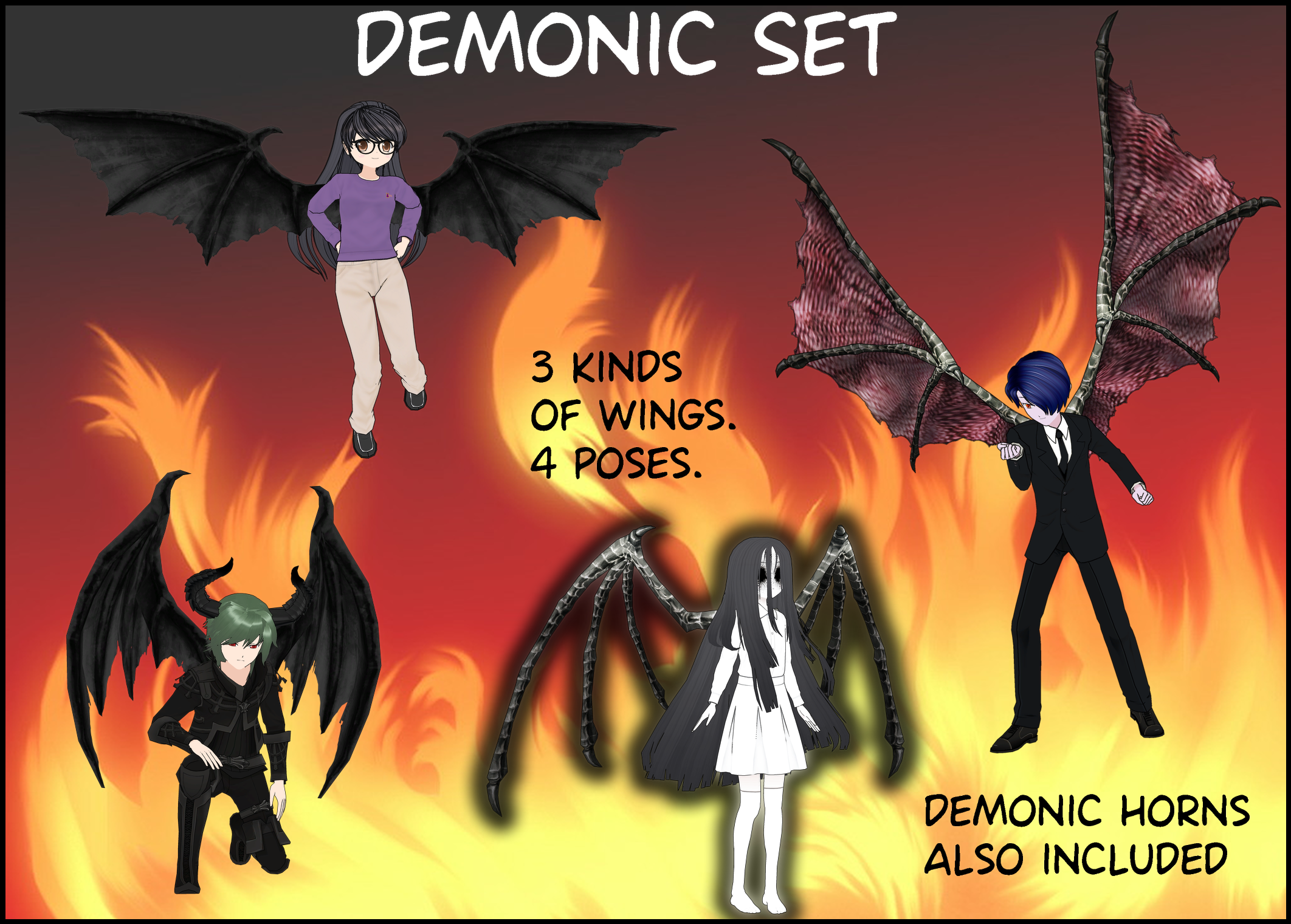 Demonic Set for ComiPo by BellaMbrianna