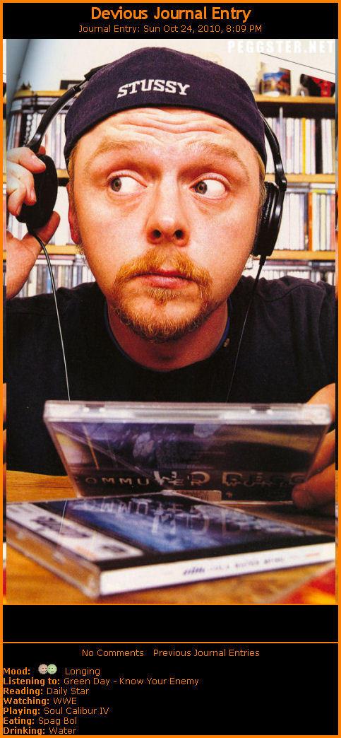 Simon Pegg Journal Skin by 666qqq666