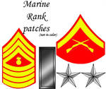 Marine Rank Patches