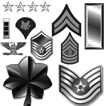 Army Airforce Ranks by Chrippy