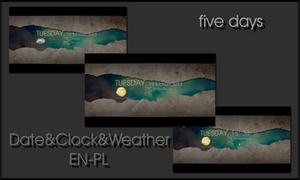 Date Clock Weather_EN-PL by Fajnalaska