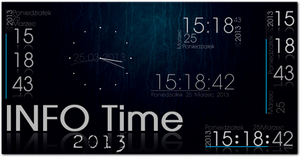 INFO_TIME Rainmeter clock,calendar