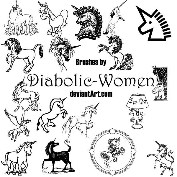 Unicorn_brushes by Diabolic-Women