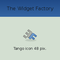 The Widget Factory Tango icon by vicing
