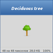 Deciduous tree by vicing