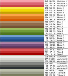 Shiki Colors Palette