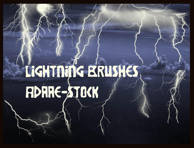 Lightning brushes by Adaae-stock