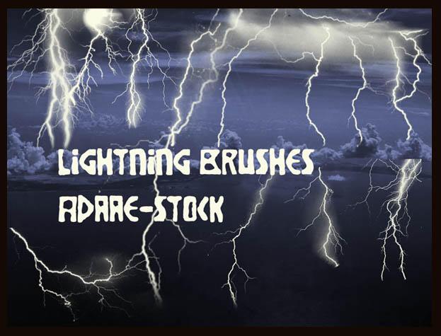 Lightning brushes by Adaae-stock