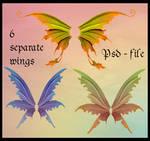 Psd fairy wings