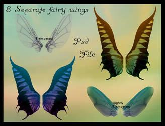 Psd fairy wings 2 by Adaae-stock