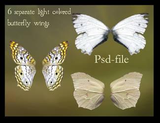 psd light butterfly wings set by Adaae-stock