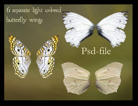 psd light butterfly wings set