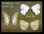 psd light butterfly wings set