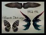 psd dark wings set
