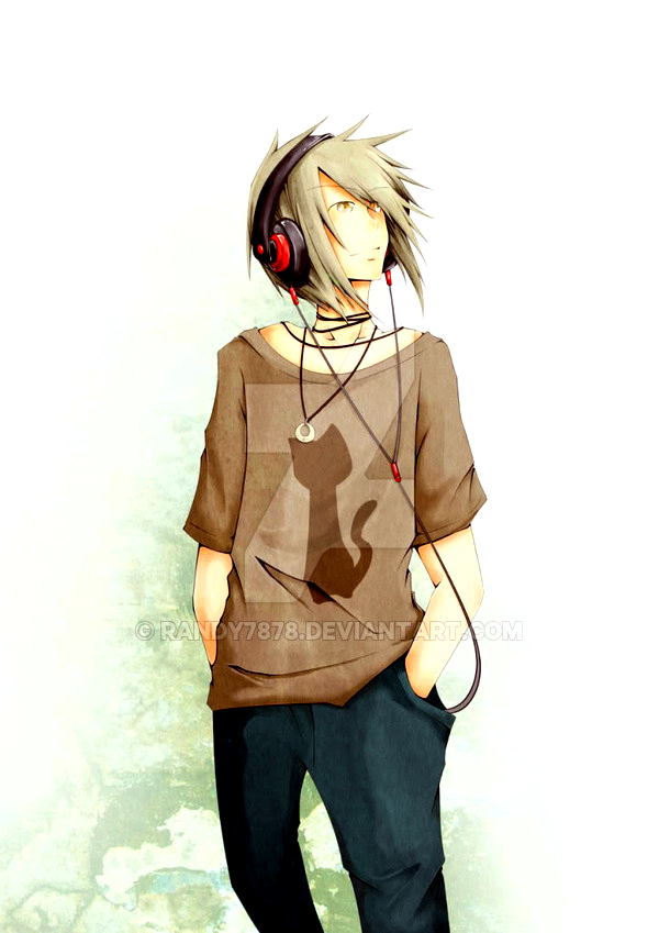 anime guy with headphones by randy7878 on deviantart
