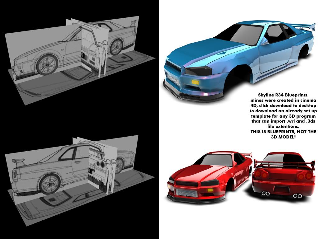 Skyline R34 Blueprints By Ragingpixels On Deviantart