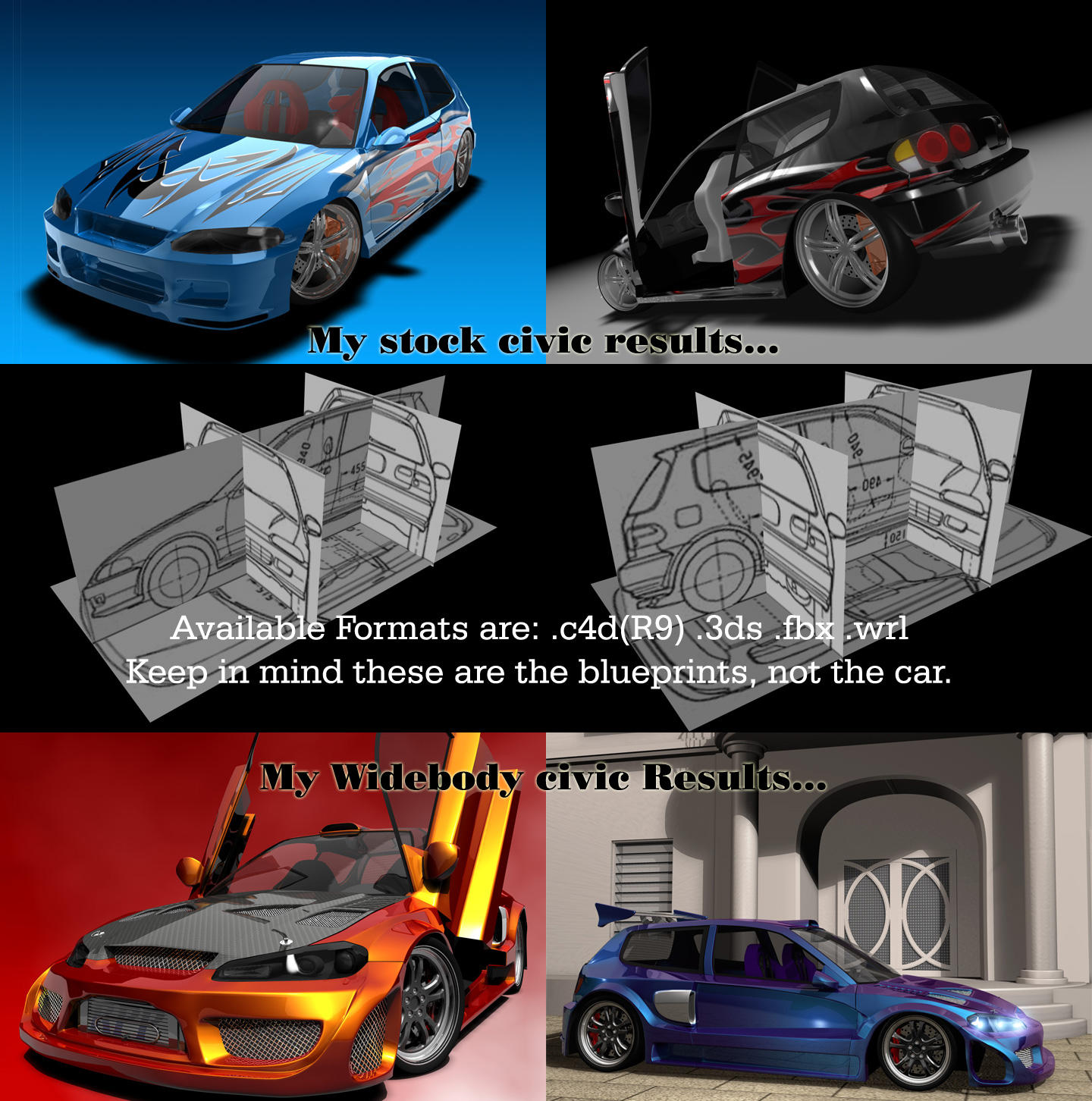 Honda Civic EG6 Blueprints by