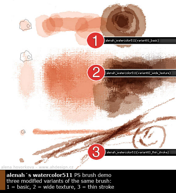 PS watercolor brushes by alenah511