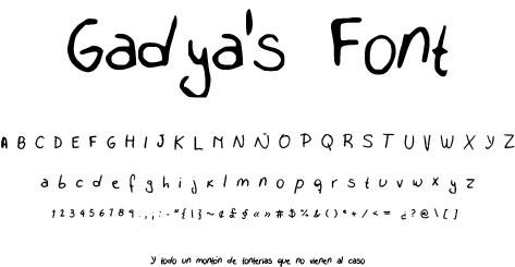 Gadya's Font by Gadya
