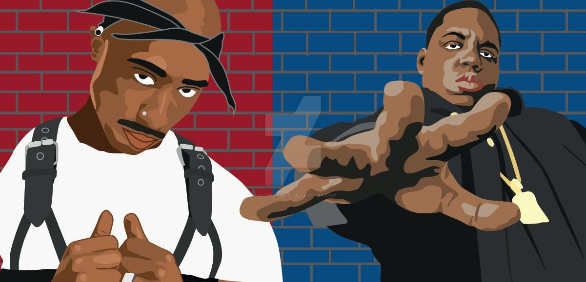 TUPAC + BIGGIE SMALLS by nathanriddo on DeviantArt