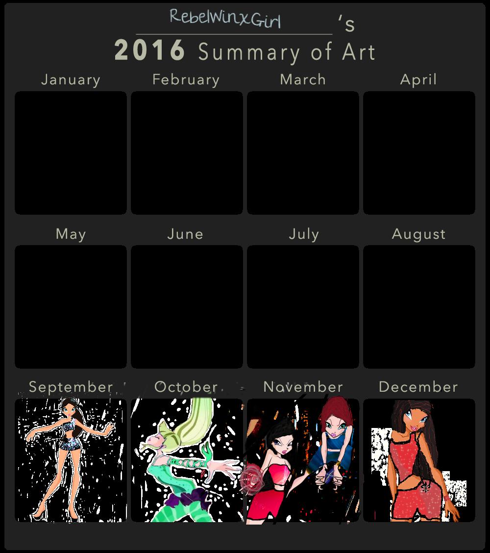 2016 Art Summary version 2 by RebelWinxGirl
