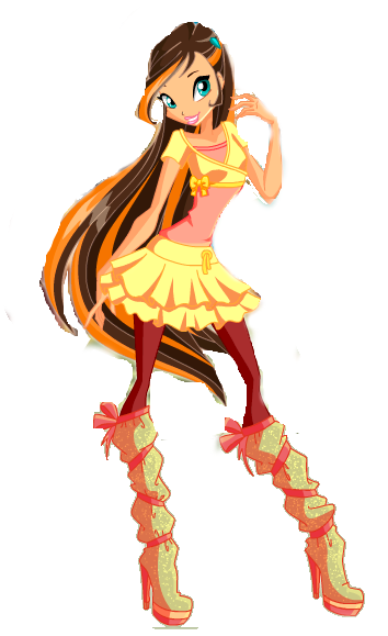 Gaia, Fairy of the Shining Stars redraw by RebelWinxGirl