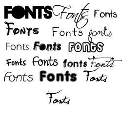 Fonts by cuteklz