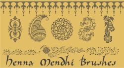 Henna Mendhi PSP 7 Brush Set by kumarakam