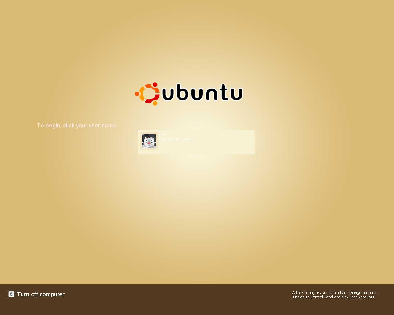 Ubuntu Logon by Misery-Joker