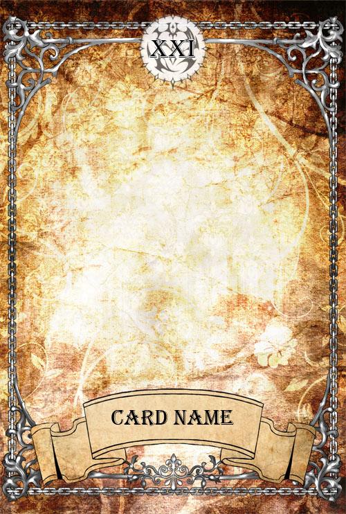 PH Tarot Card Template By Amarevia On DeviantArt - Tarot card template