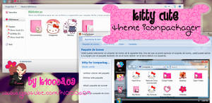 kitty cute theme iconpackager by k1000a09