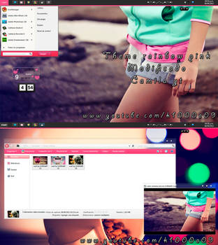 theme rainbow pink (modificado) by me by k1000adesign