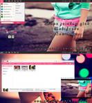 theme rainbow pink (modificado) by me