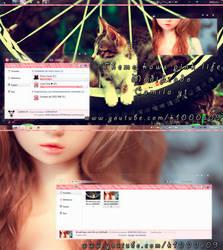 theme kaws life pink windows 7 modificado by me by k1000adesign