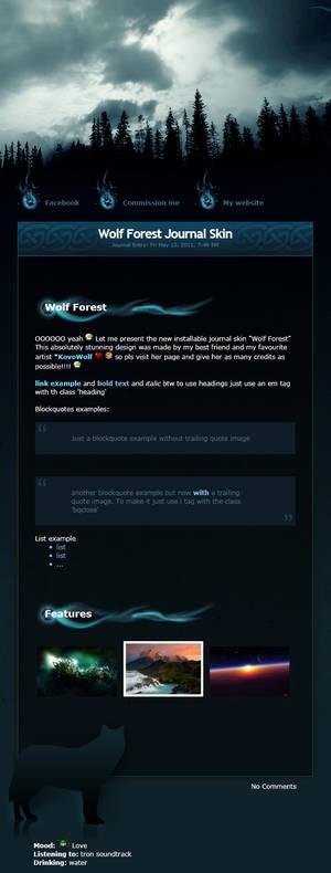 Wolf Forest Journal Skin v3