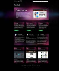 Designers Portfolio - FREE PSD